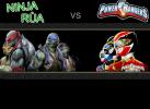 Game Ninja đánh nhau với siêu nhân rùa
