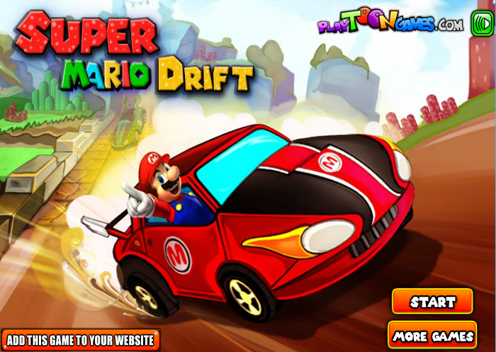 mario điều khiển xe đua