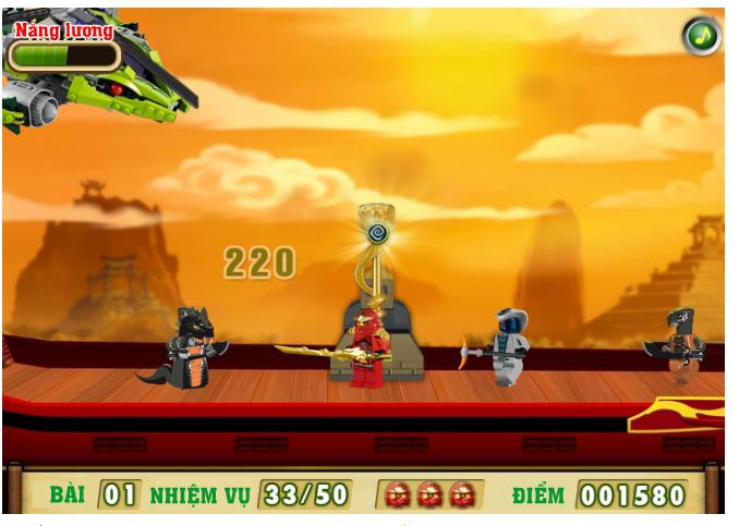 Chơi game ninja lego đại chiến