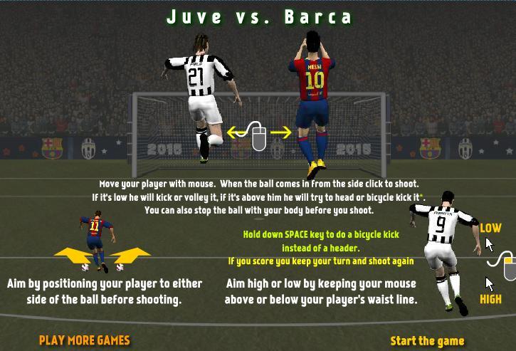 Game Juve đối đầu Barca