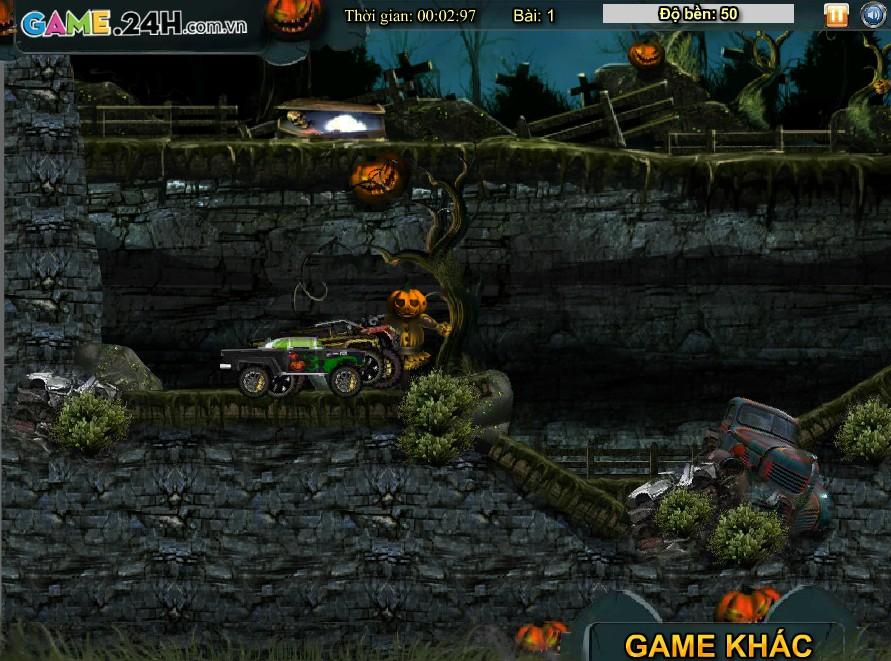 Chơi Game Đua xe đêm Halloween